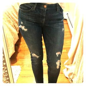 Guess Mid rise distressed fit skinny jeans